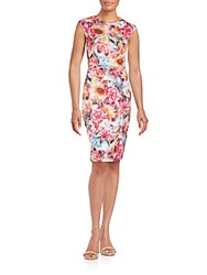 Alexia Admor Printed Scuba Sheath Dress Floral