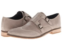 Hush Puppies Style Monk Strap Taupe Suede Men's Slip On Dress Shoes