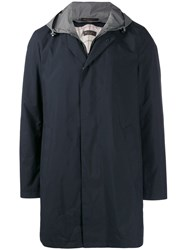 Loro Piana Hooded Rain Jacket Blue