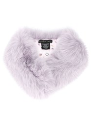 Charlotte Simone Fox Fur Scarf Pink And Purple