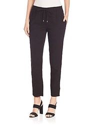 Eileen Fisher Organic Cotton Drawstring Ankle Pants Black