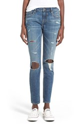 Junior Women's Vigoss Distressed Skinny Jeans Medium Wash