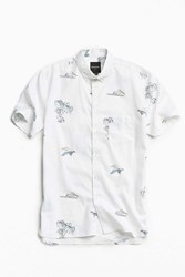 Barney Cools Pelican Short Sleeve Button Down Shirt White