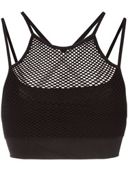 Alala Seamless Layered Sports Bra Black