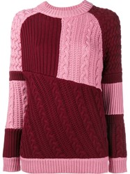 House Of Holland Patchwork Jumper Pink And Purple