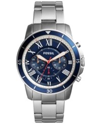 Fossil Men's Chronograph Grant Sport Stainless Steel Bracelet Watch 44Mm Fs5238 Blue