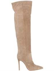 Gianvito Rossi 100Mm Suede Over The Knee Boots
