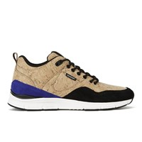 Gourmet Men's 35 Lite Cork Lx Trainers Gold Cork Black Beige