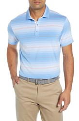 Bobby Jones R18 Tech Diesel Stripe Golf Polo Blue