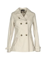 Scee By Twin Set Overcoats Light Grey