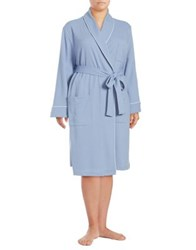 Lord And Taylor Long Waffle Knit Robe White