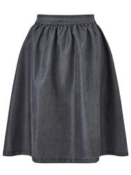 Minimum Baltima Denim Skirt Medium Grey