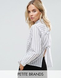 Miss Selfridge Petite Bow Back Shirt Multi