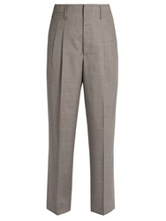 Golden Goose Sally Tailored Wool Trousers Grey