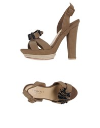 Twin Set Simona Barbieri Footwear Sandals Women Khaki
