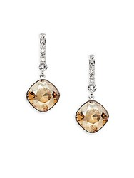 Swarovski Crystal Drop Earrings Silver