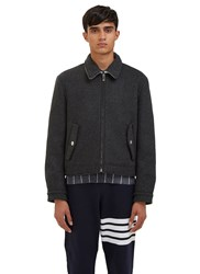 Thom Browne Military Weight Cashmere Harrington Jacket Black