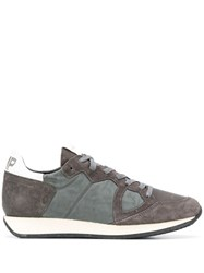 Philippe Model Lace Up Low Top Sneakers Grey
