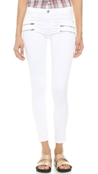 James Jeans Twiggy Zip Jeans White Clean