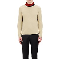 J.W.Anderson Men's Contrast Turtleneck Sweater Ivory