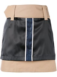 Opening Ceremony Silk Panel Mini Skirt Women Cotton Polyester Bemberg 6 Nude Neutrals