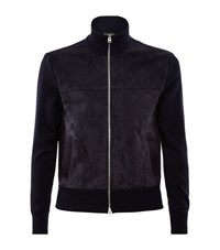 Tom Ford Suede Front Cardigan Male Navy