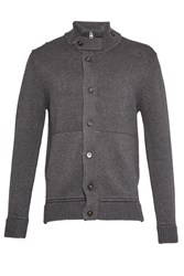French Connection Men's Master Flux Knit Cardigan Grey