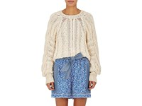 Ulla Johnson Women's Niva Cotton Crop Sweater White