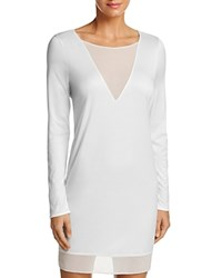 Hanro Leah Long Sleeve Gown Off White