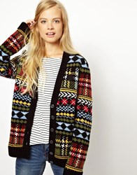 Fred Perry British Knitting Fairisle Cardigan Multi