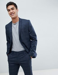 Selected Homme Skinny Suit Jacket In Navy Check With Stretch 2441 Navy Check