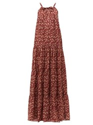 Dodo Bar Or Dorothy Tiered Floral Print Cotton Maxi Dress Red Print