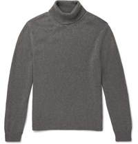 Massimo Alba Watercolour Dyed Cashmere Rollneck Sweater Gray