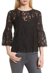 Chelsea 28 Chelsea28 Bell Sleeve Lace Top Black