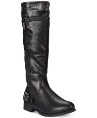 Easy Street Shoes Easy Street Burke Riding Boots Women's Shoes Black