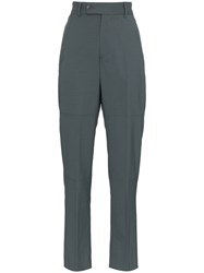 Martine Rose Tailored Slim Leg Wool Blend Trousers Grey