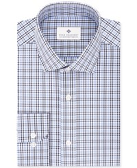 Ryan Seacrest Distinction Men's Slim Fit Non Iron Blue Check Dress Shirt Only At Macy's Med Blue