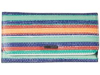 Roxy My Long Eyes Wallet Yandi Stripe Combo Eclipse Wallet Handbags Blue