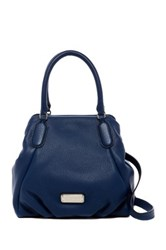Marc By Marc Jacobs New Q Fran Leather Satchel Blue