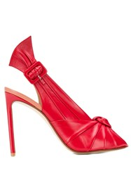 Francesco Russo Slingback Stiletto Sandals Red