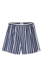 Sleepy Jones Victor Variegated Stripe Boxers Navy