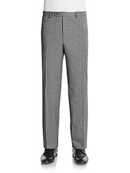 Saks Fifth Avenue Flat Front Wool Pants Grey