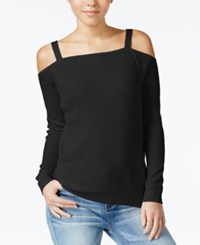 American Rag Cold Shoulder Sweatshirt Only At Macy's Classic Black