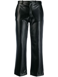 Each X Other Leather Tailored Trousers Black