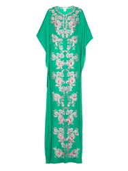 Oscar De La Renta Jane Embroidered Silk Kaftan