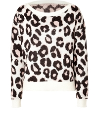 Juicy Couture Mohair Blend Leopard Pullover