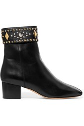 Sandro Azelie Studded Leather Ankle Boots Black