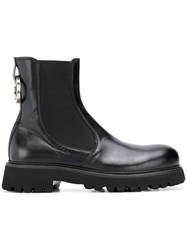 Rocco P. Elasticated Military Boots Black