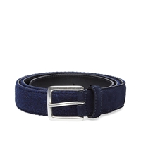 Andersons Anderson's Harris Tweed And Suede Belt Navy