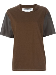 Golden Goose Deluxe Brand 'Celia' T Shirt Brown